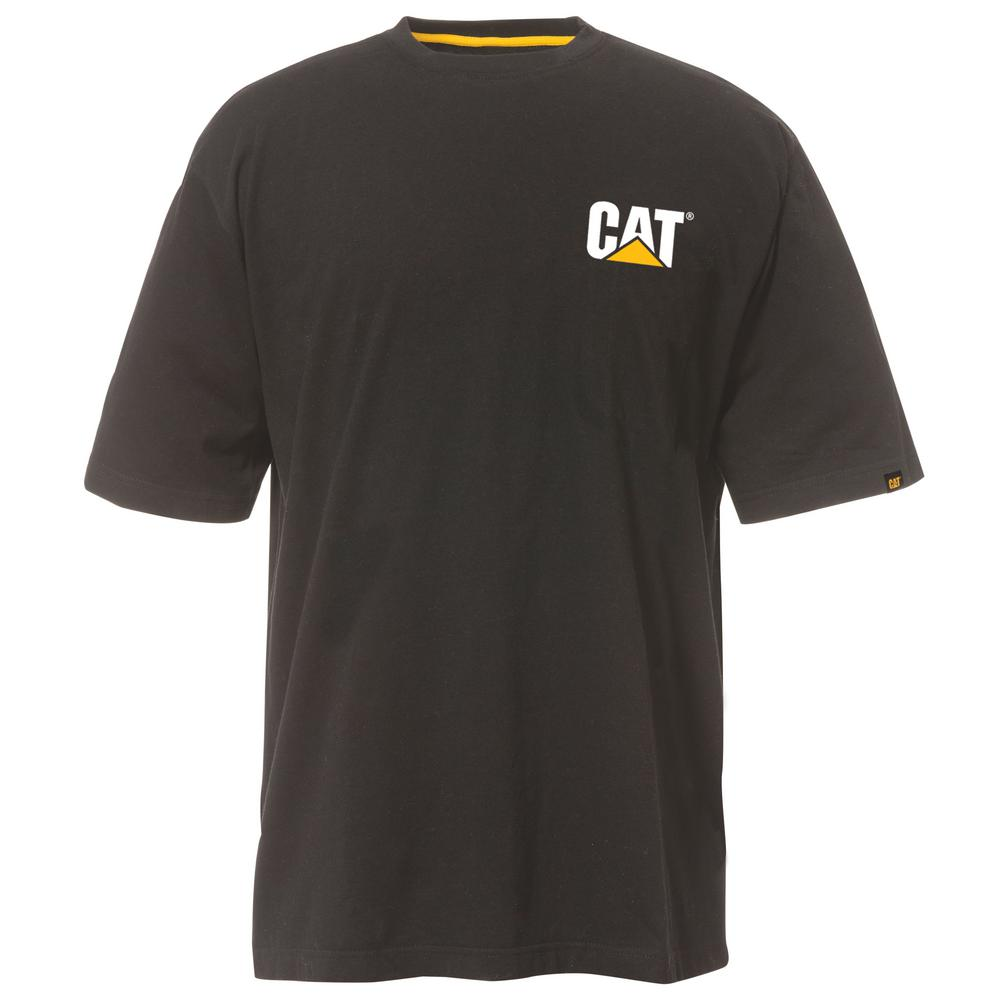 2ca8e4c7ab0 Caterpillar Trademark Men s 4X-Large Black Cotton Short Sleeved T ...