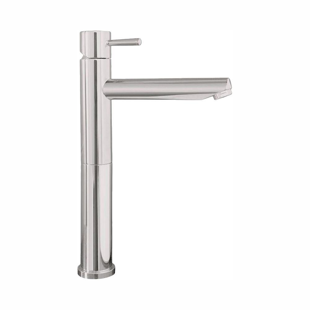American Standard Serin Single Hole Single-Handle Mid-Arc Vessel Bathroom Faucet with Grid Drain in Brushed Nickel