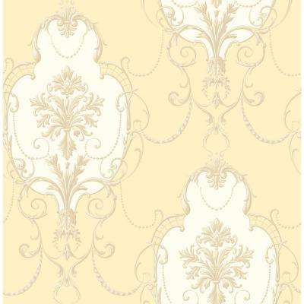 56.4 sq. ft. Lucinda Yellow Cameo Wallpaper