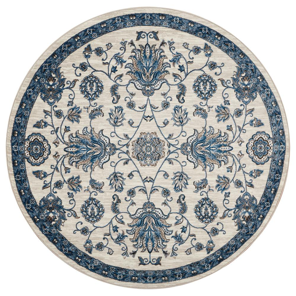 Lr Resources Adana Whiteblue Round 9 Ft X 9 Ft Vibrant Indoor
