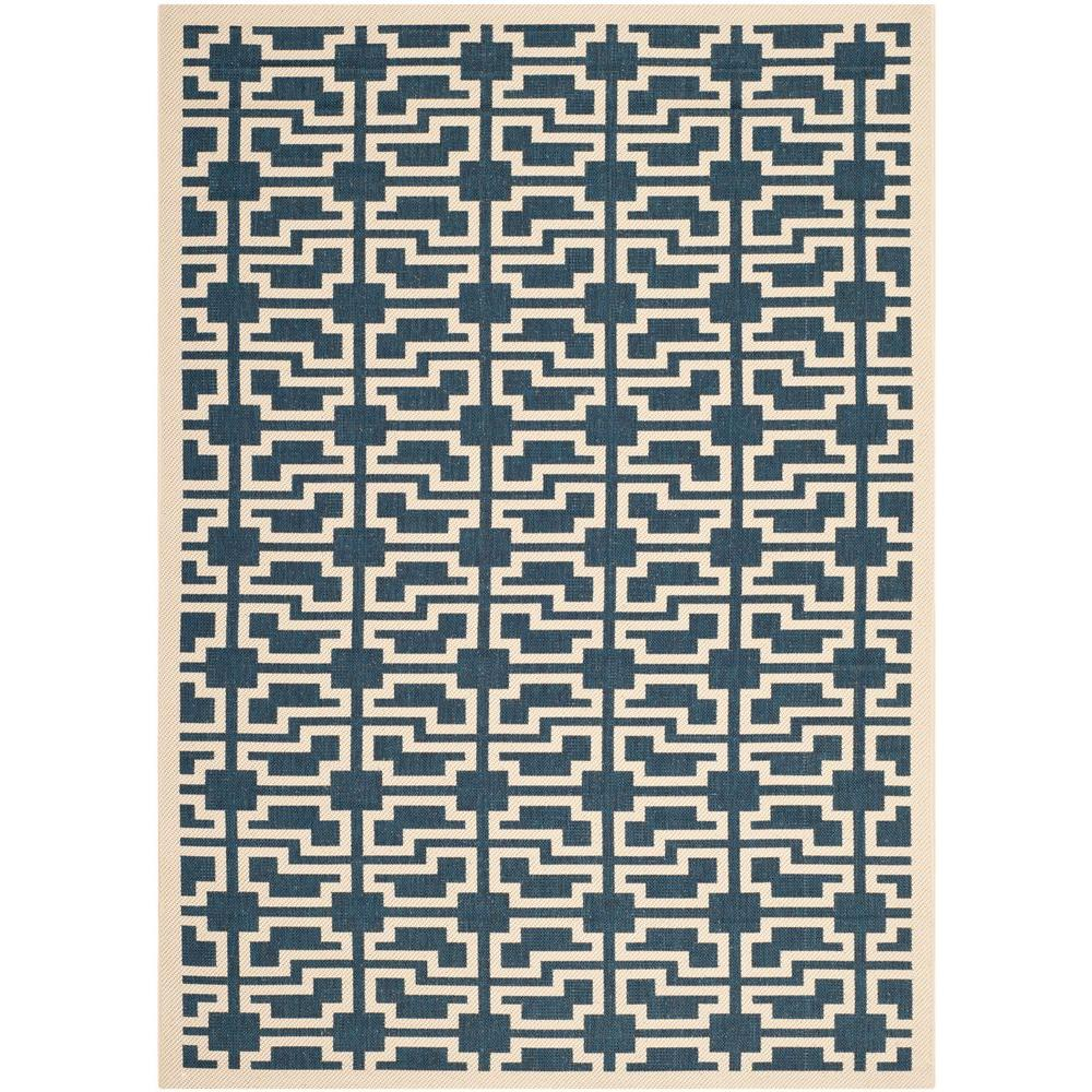 Courtyard Navy/Beige 4 ft. x 5 ft. 7 in. Indoor/Outdoor Area