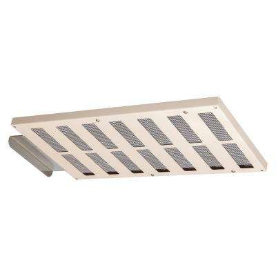 EmberShield 16 in. x 8 in. Galvanized Steel Closeable Soffit Vent in Almond