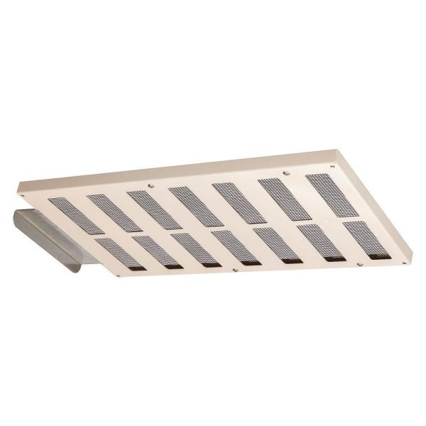 16.5 in. x 1.5 in. Rectangular Almond Built-in Screen Galvanized Steel Soffit Vent