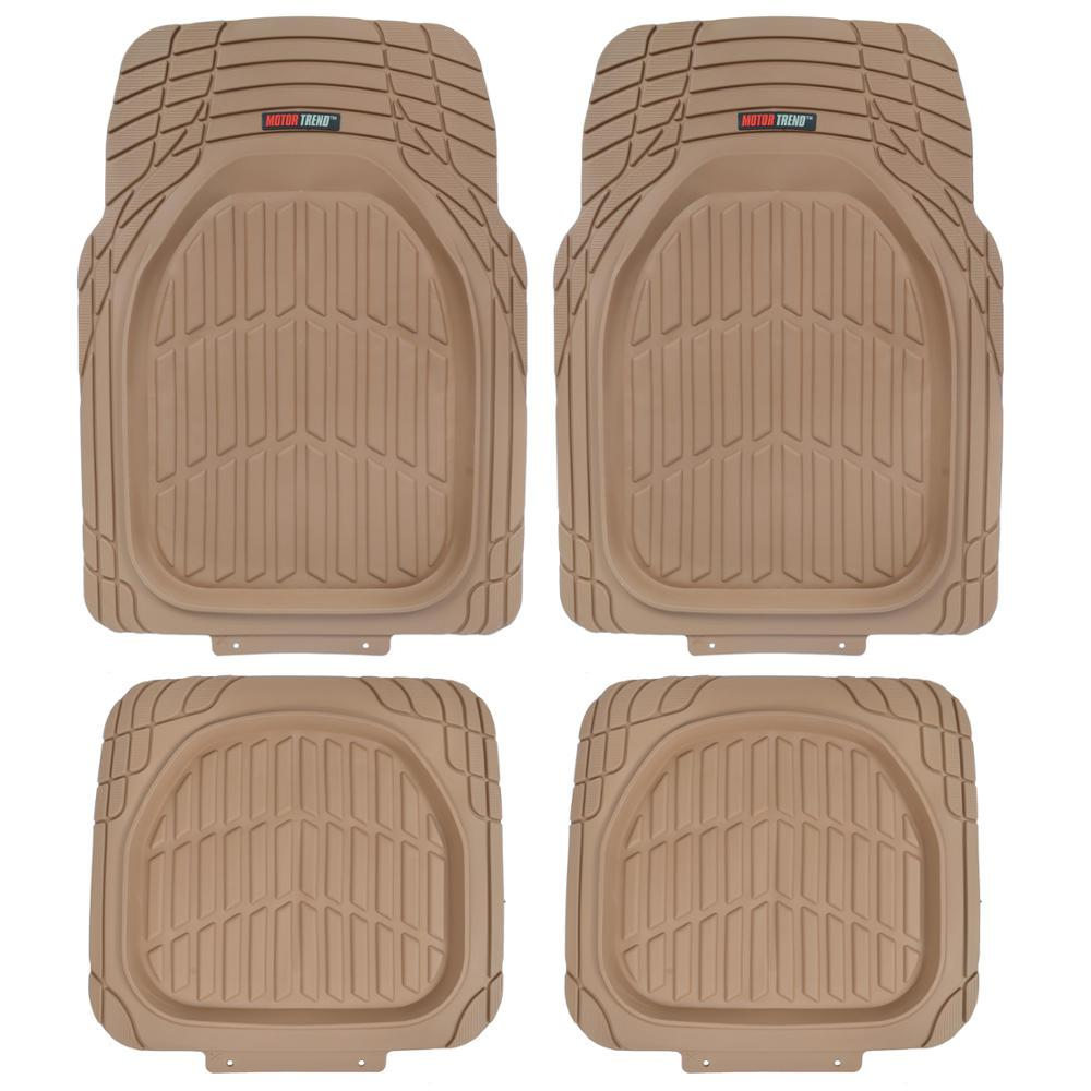 Deep Dish MT-921 Beige Heavy Duty 4 Piece All Weather Rubber