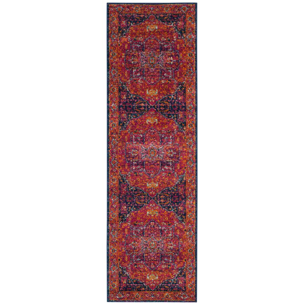 Safavieh Evoke Fuchsia/Orange 2 ft. x 19 ft. Runner Rug