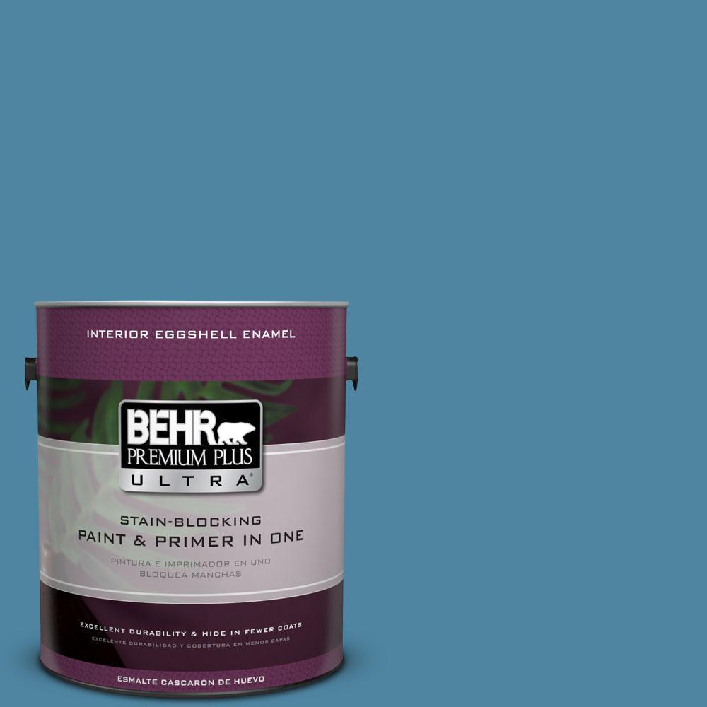 BEHR Premium Plus Ultra 1-gal. #S490-5 Jay Bird Eggshell Enamel Interior Paint
