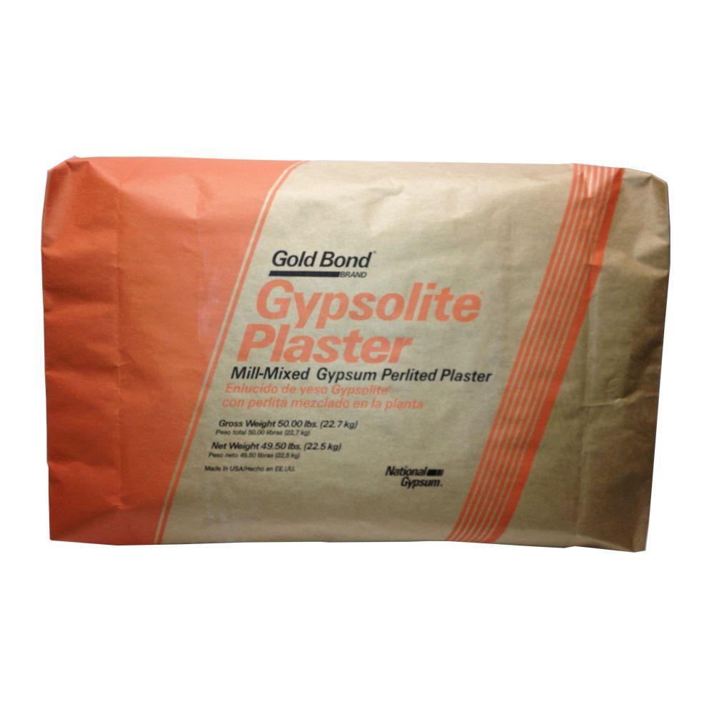 Gold Bond 50 Lb Gypsolite Plaster Bag 50002658 The Home Depot