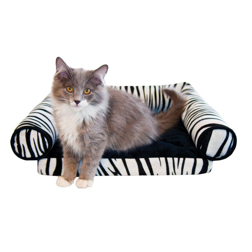 K&H Pet Products Lazy Lounger Small Zebra Cat Bed