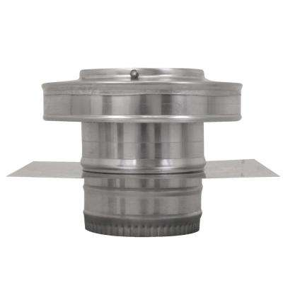5 in. Dia Aluminium Round Back Ducted Vent Cap with 2 in. Collar and 2 in. Tail Pipe