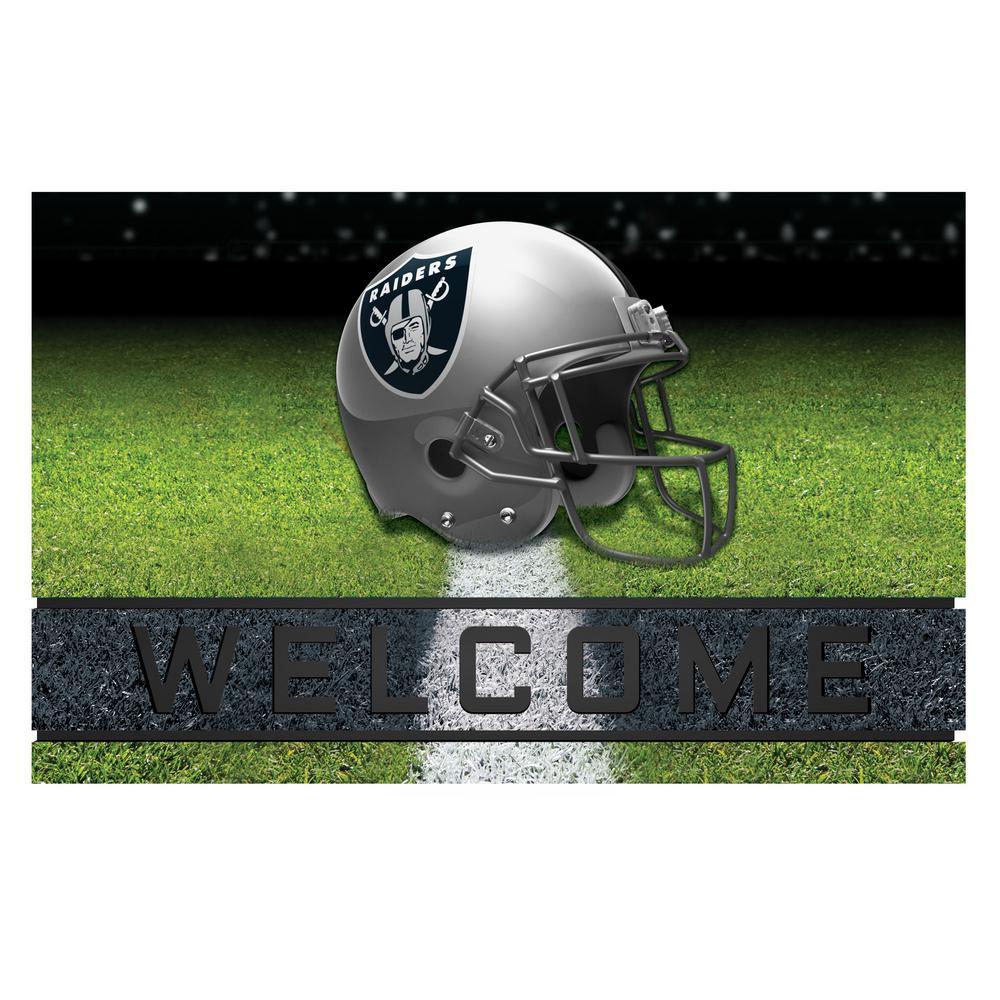 NFL - Oakland Raiders 18 in. x 30 in. Rubber Door Mat