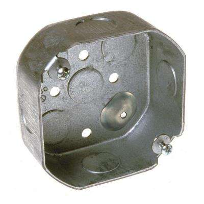 4 in. Octagon Box, 1-1/2 in. Deep with 1/2 in. KO's (30-Pack)