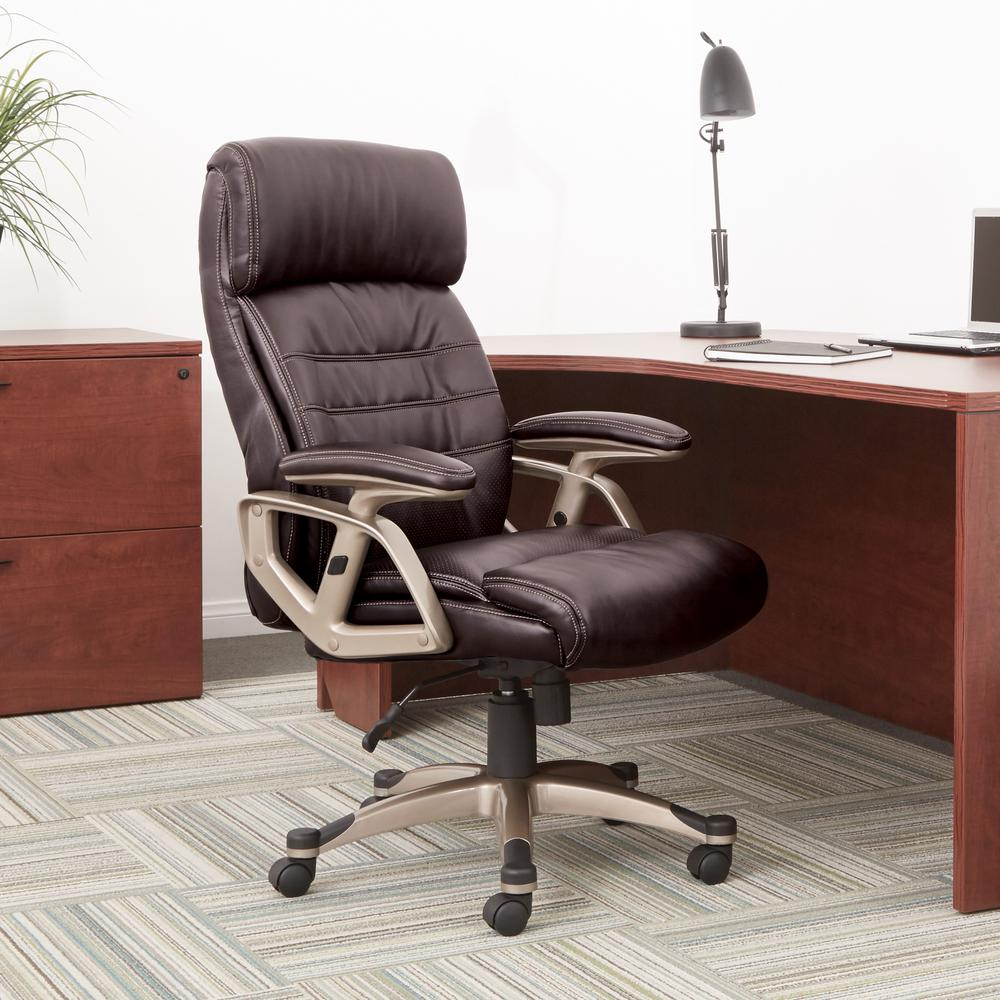 Work Smart Executive Bonded Leather Chair