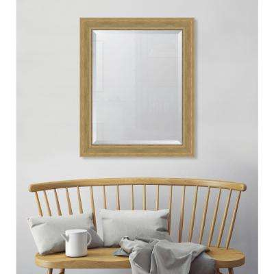 28 in. x 34 in. Natural English Pine Resin Frame Mirror
