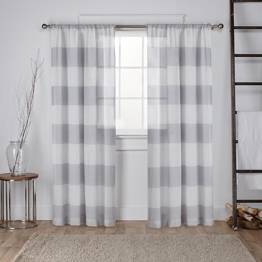 Sheer Linen Curtains Grey Linen Curtains And: Home Decorators Collection Semi-Opaque Grey Faux Linen