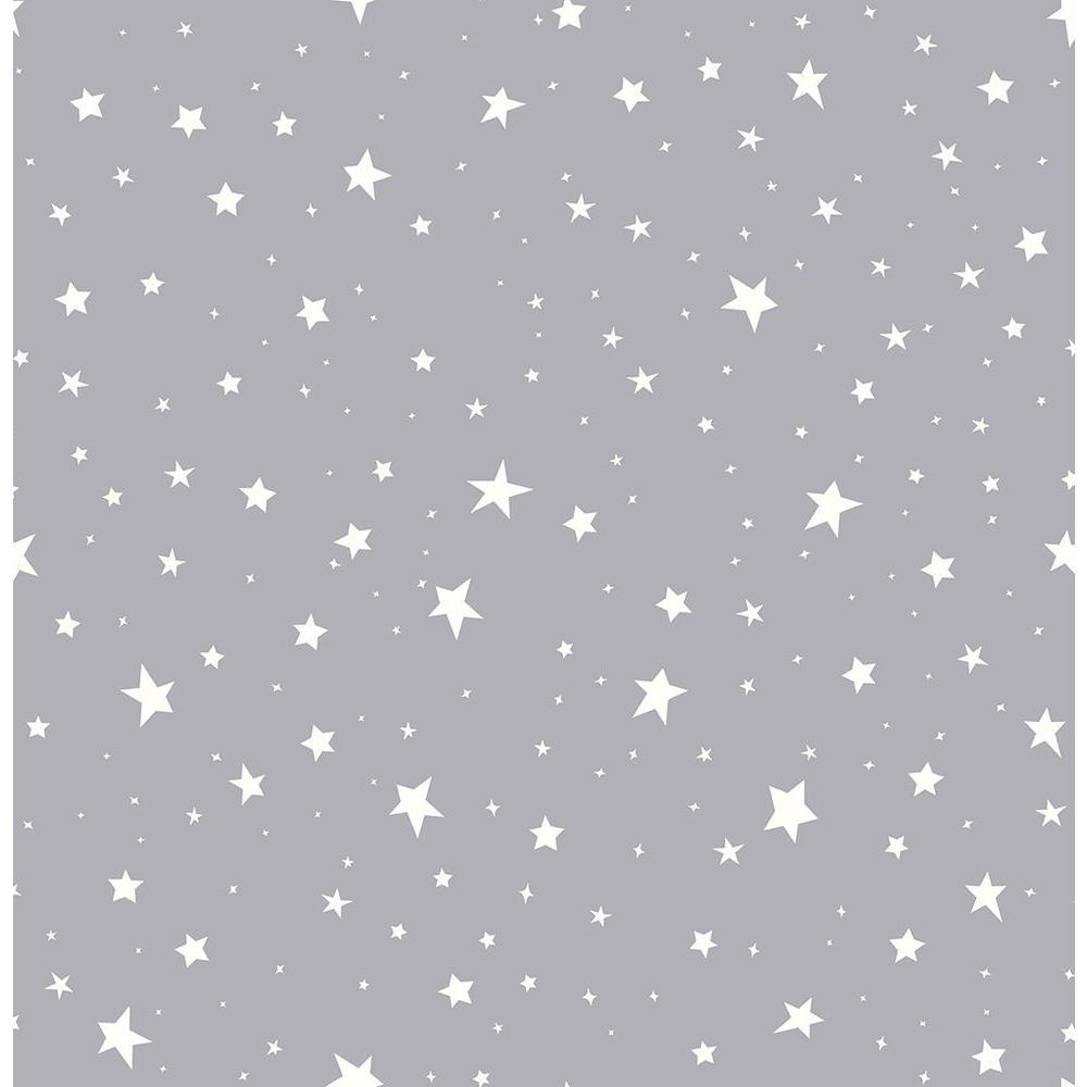 Brewster Grey Stars Wallpaper