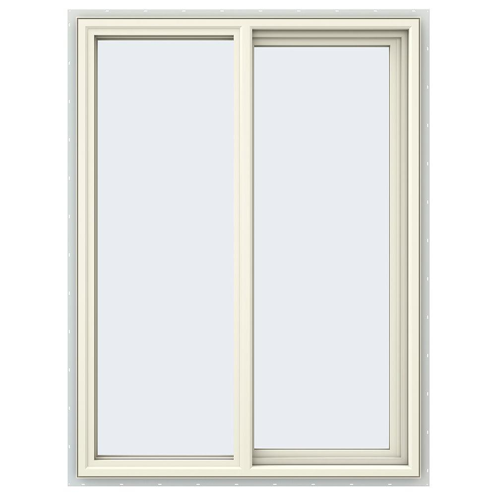 35.5 in. x 47.5 in. V-4500 Series Cream Painted Vinyl Right-Handed
