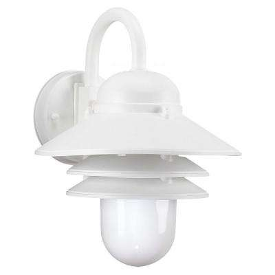 Wall Mount 1-Light Outdoor White Fixture