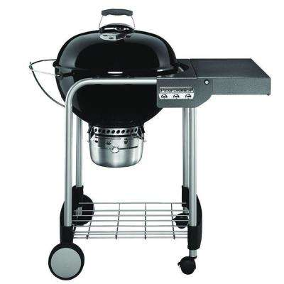 22 in. Performer Charcoal Grill in Black with Built-In Thermometer and Storage Rack