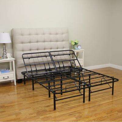 hercules twin xlsize 14 in h adjustable heavy duty metal platform bed frame