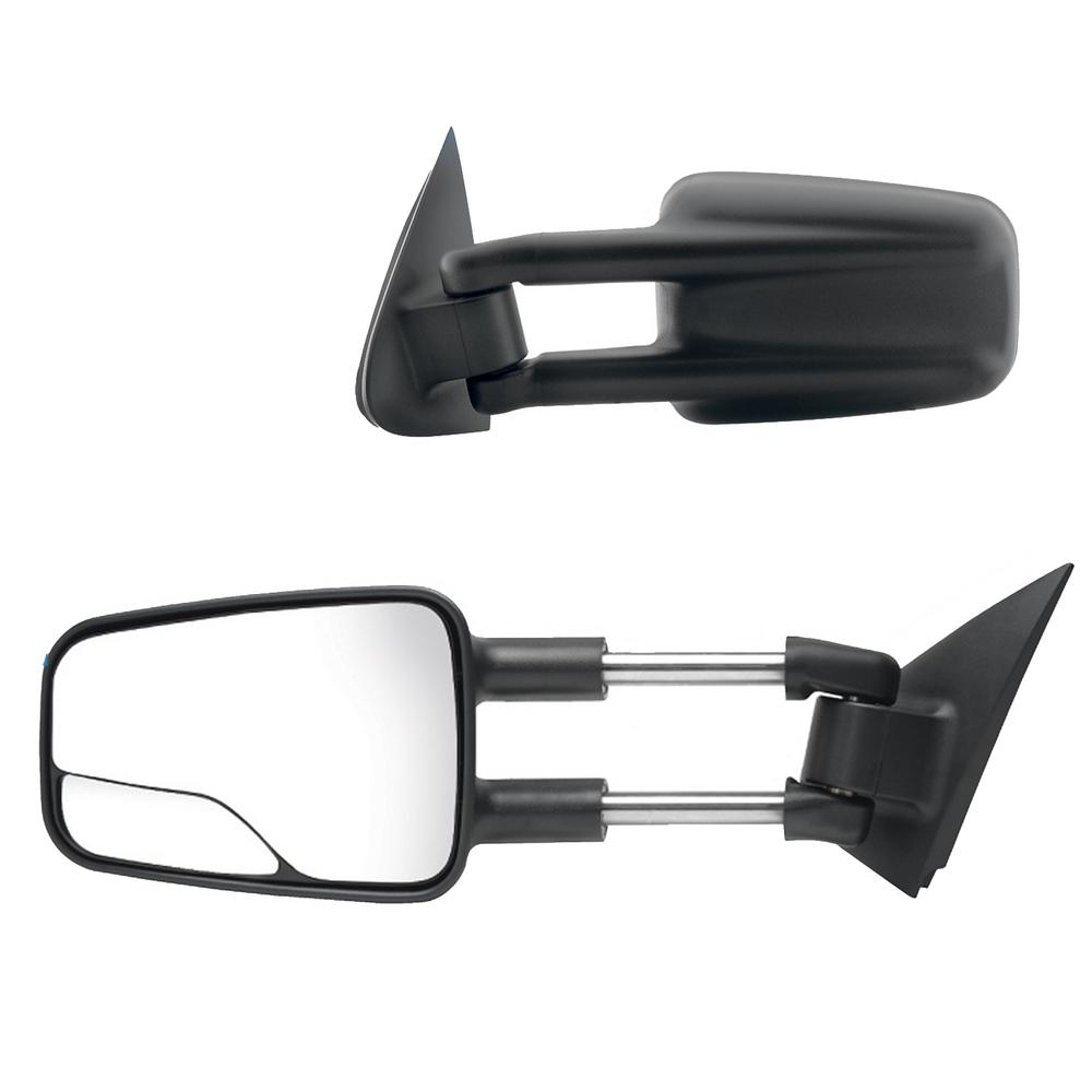 Towing Side Mirrors fit for 1999-2007 Chevy Silverado Tahoe Suburban Avalanche GMC Sierra Yukon with Convex Glass Manual Telescoping Extendable Pair Set