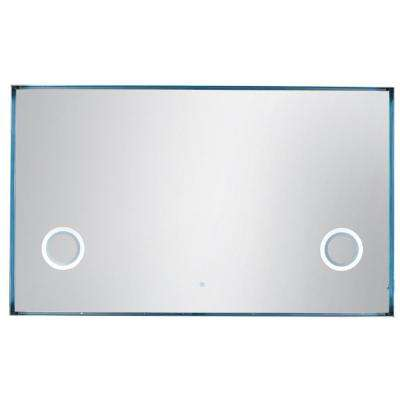 Levitate 70 in. W x 42 in. H Framed Wall Mirror in Plated Nickel