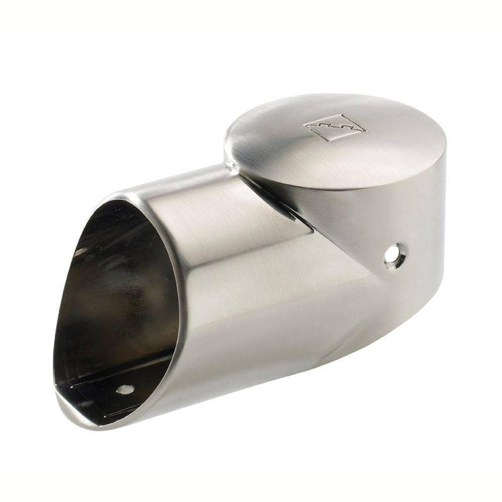 Brushed Nickel 90 Degree Landing Connector