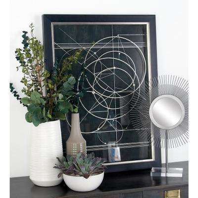 """31 in. x 23 in. """"Geometry-Inspired"""" Printed Framed Wall Art"""