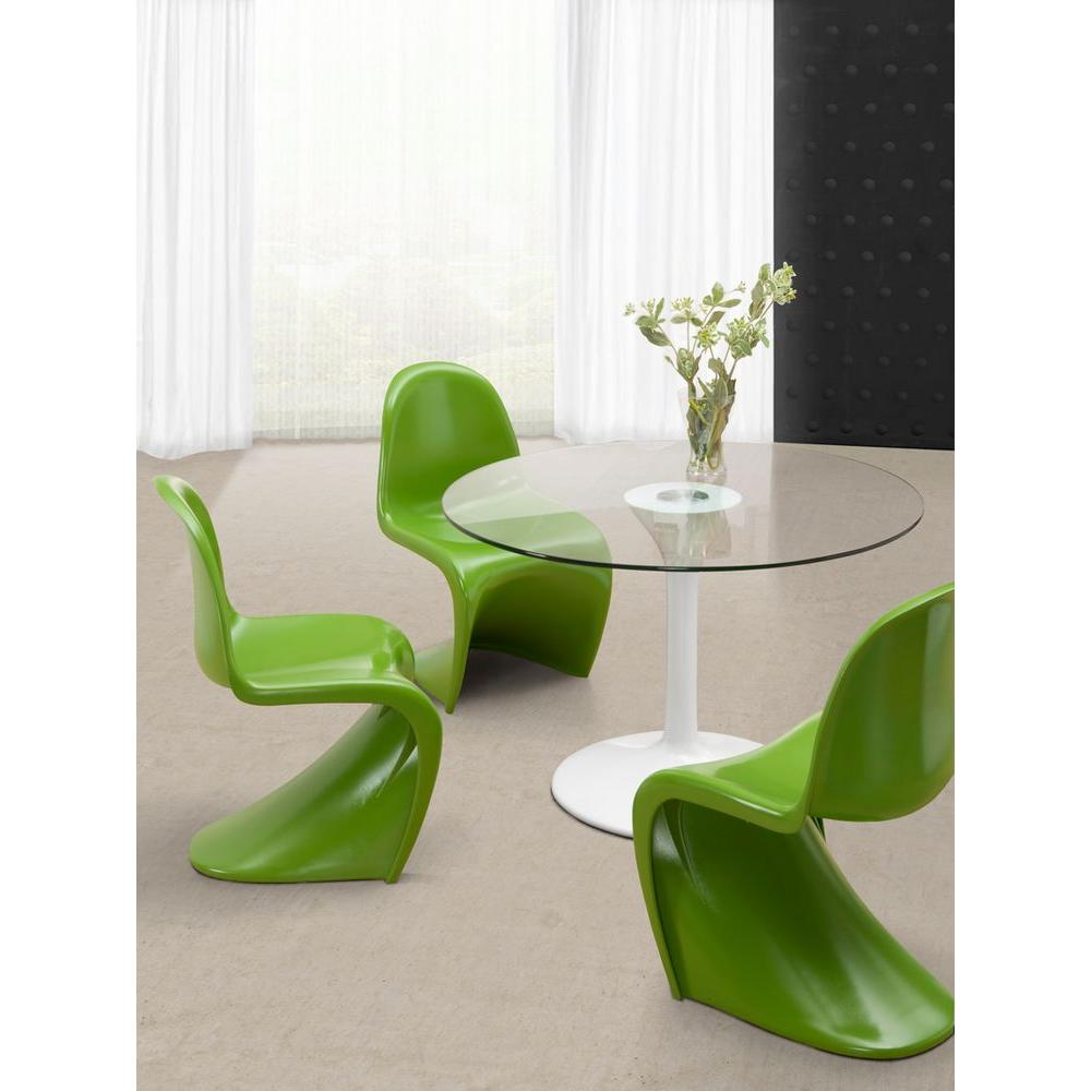 ZUO S Green Plastic Dining Chair (Set of 2)