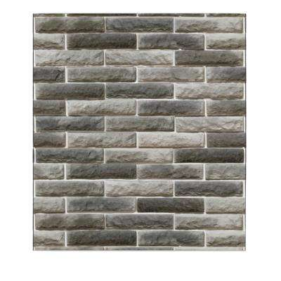 Falkirk Jura 3/10 in. x 28 in. x 30 in. Grey, Charcoal Faux Bricks PE Foam Peel-and-Stick Wall Panel