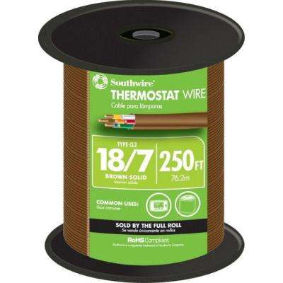 (By-the-Foot) 18/7 Brown Solid CU CL2 Thermostat Wire
