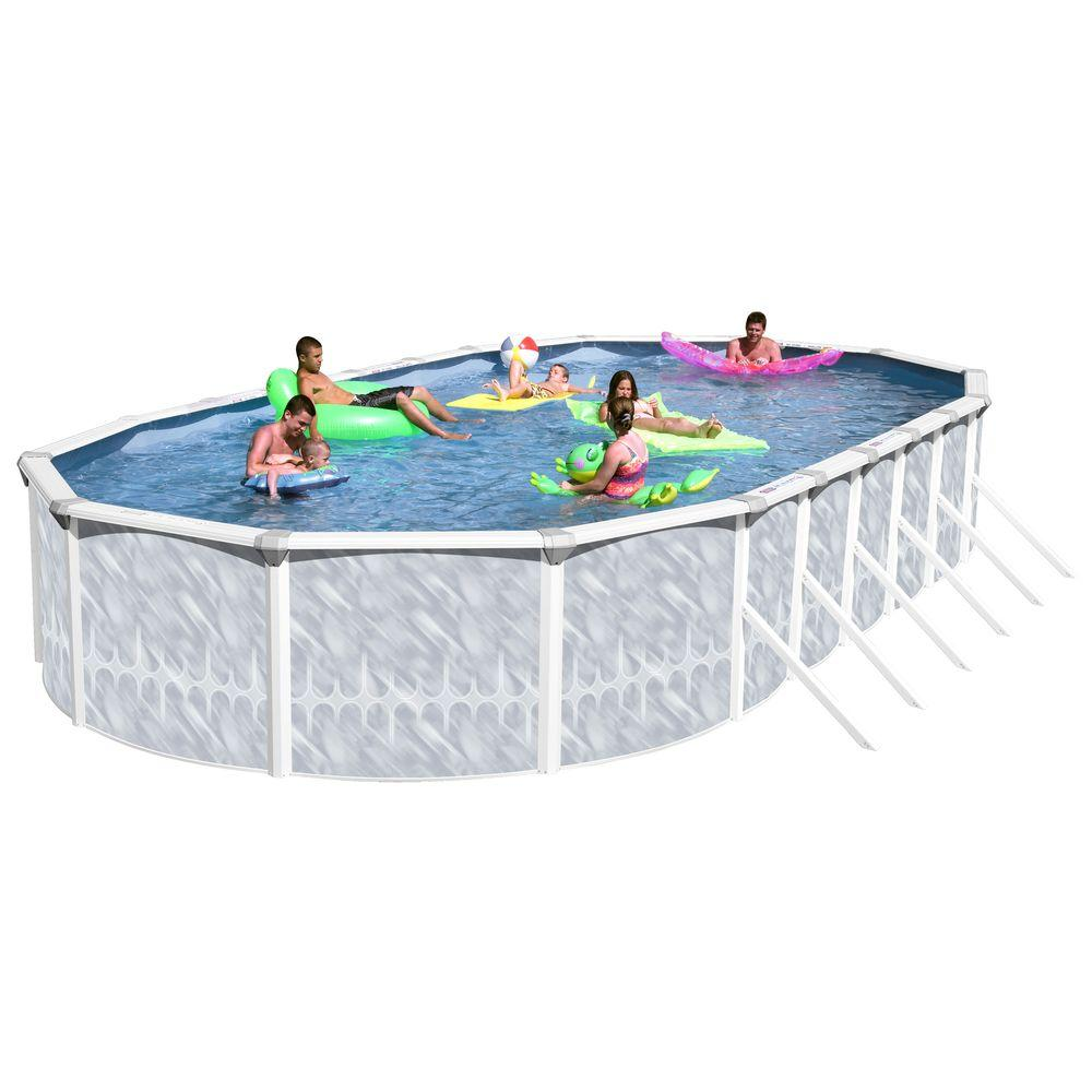 Heritage pools taos 33 ft x 18 ft x 52 in oval pool for On ground pools