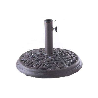 Wanderlust 24 lbs. Cast Iron Patio Umbrella Base in Black