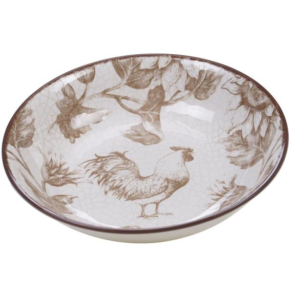 Certified International Toile Rooster 144 oz. Serving Bowl
