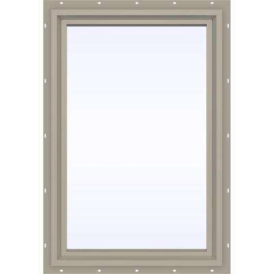 23.5 in. x 29.5 in. V-4500 Series Fixed Picture Vinyl Window - Tan