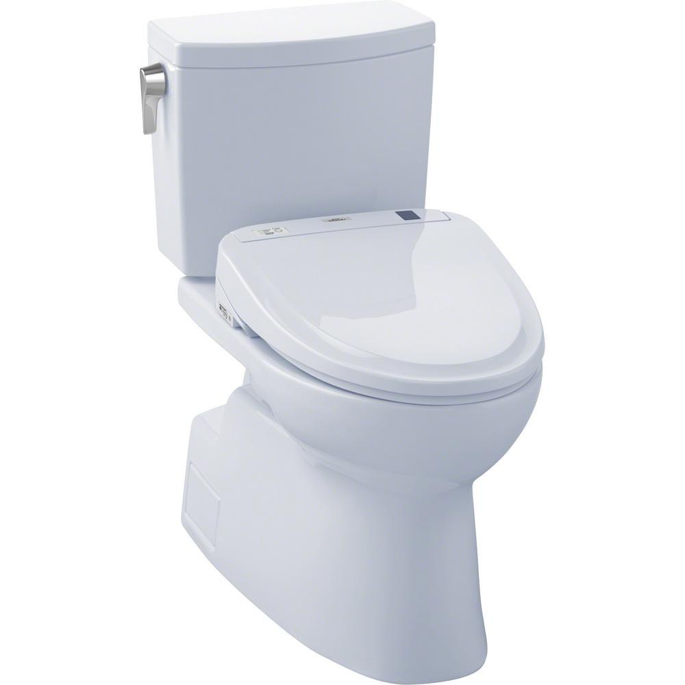 Surprising Toto Vespin Ii Connect 2 Piece 1 0 Gpf Elongated Toilet With Washlet S300E Bidet And Cefiontect In Cotton White Creativecarmelina Interior Chair Design Creativecarmelinacom