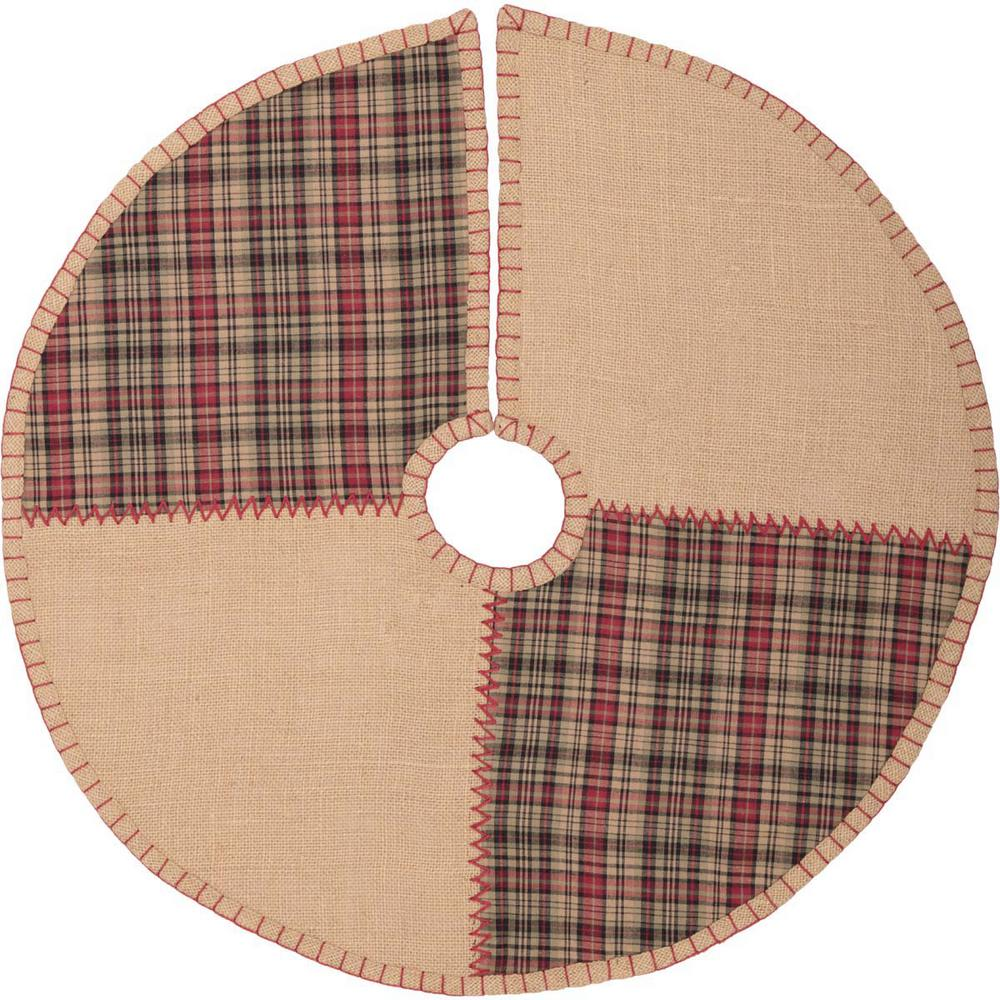 21 in. Clement Natural Tan Rustic Christmas Decor Tree Skirt