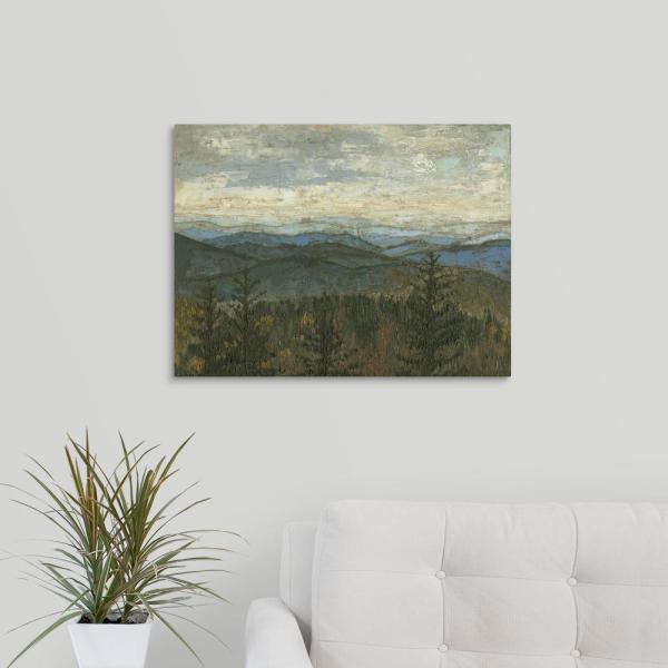 ''Blue Ridge View II'' by  Megan Meagher Canvas Wall Art