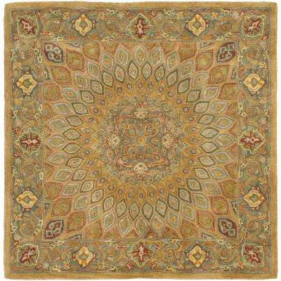 Heritage Light Brown/Gray 7 ft. x 7 ft. Square Area Rug