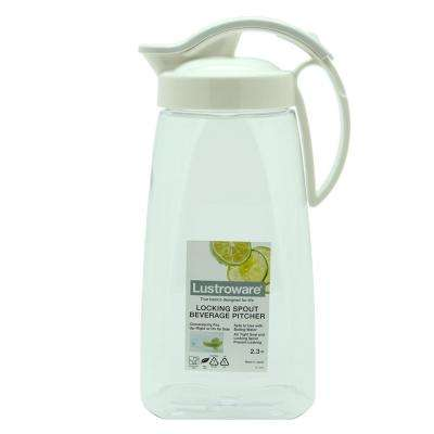 64 fl oz. Locking Spout Quick Pour Beverage Pitcher 2-Piece Set