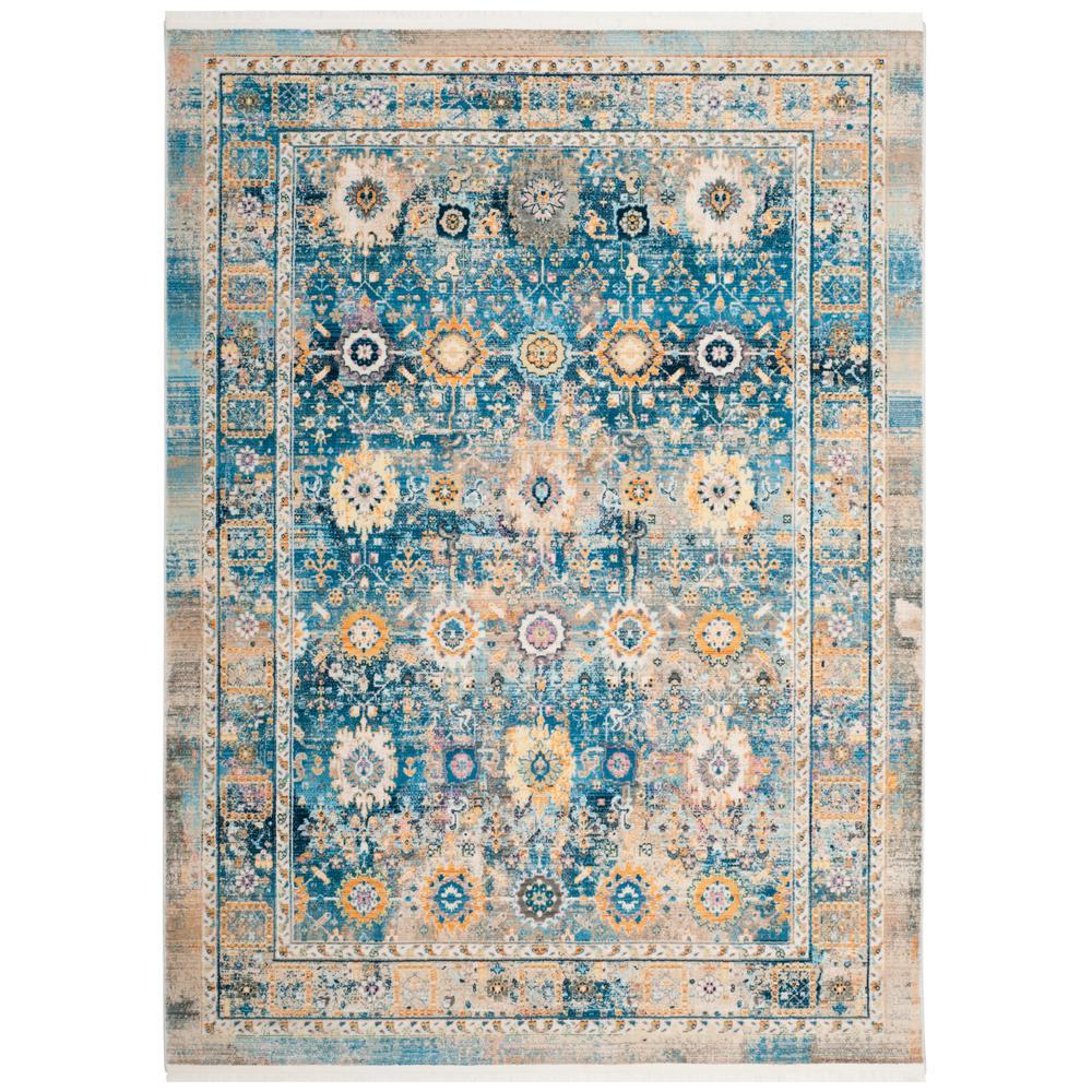 safavieh claremont blue gold 4 ft x 5 ft 9 in area rug clr663c 4 the home depot. Black Bedroom Furniture Sets. Home Design Ideas