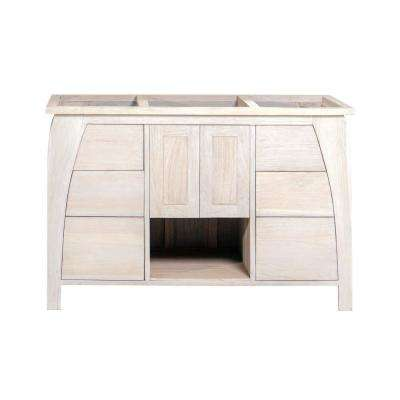 Tranquility 48 in. W Teak Vanity Bath Cabinet Only in Driftwood