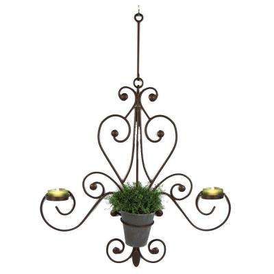 Chandelier 27 in. W x 6 in. D x 36 in. H Metal Wall Art