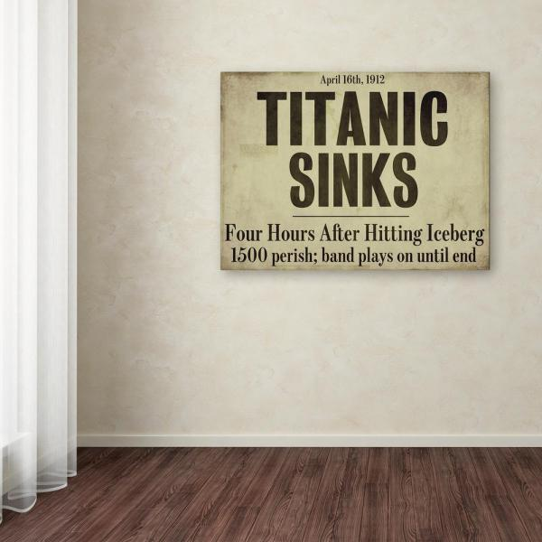 Trademark Fine Art 35 in. x 47 in. ''Titanic'' by Color