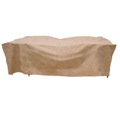 Polyester Deluxe Rectangular Patio Table and Chair Set Cover with PVC Coating