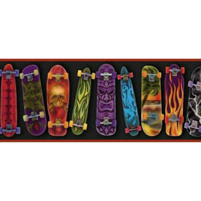 Gerry Red Skateboards Portrait Wallpaper Border Sample