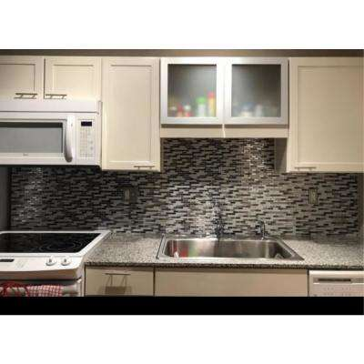 Como Gray 10 in. W x 10 in. H Peel and Stick Decorative Mosaic Wall Tile (5-Tiles)