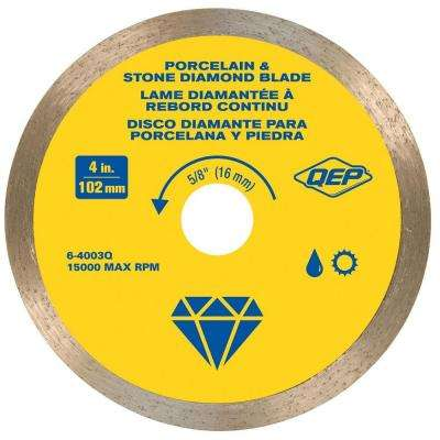 4 in. Premium Diamond Blade for Wet or Dry Cutting Porcelain and Ceramic Tile
