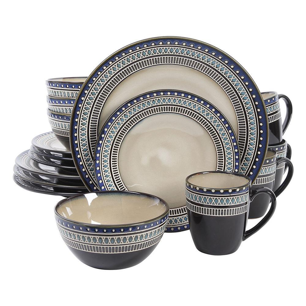 GIBSON elite Magello 16-Piece Cream Color Dinnerware Set 98597602M