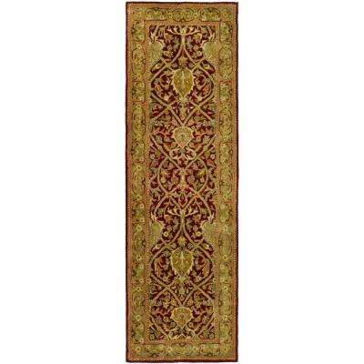 Persian Legend Red/Gold 2 ft. 6 in. x 12 ft. Runner Rug