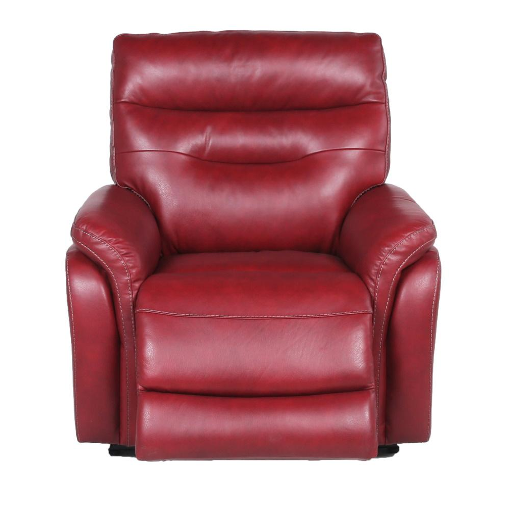 Steve Silver Fortuna Dark Red Leather Power Recliner Chair